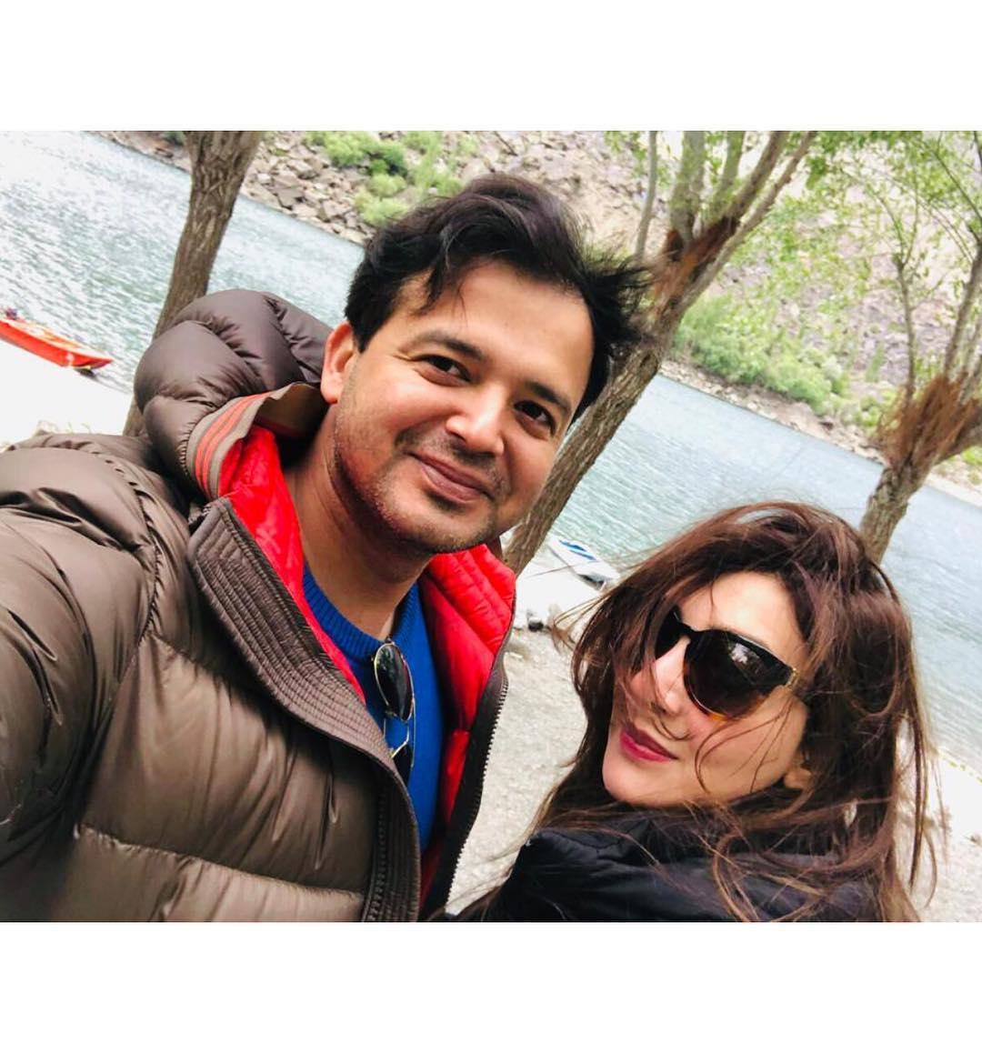 Beautiful Clicks of Actress Ayesha Khan with her Husband Maj Uqbah
