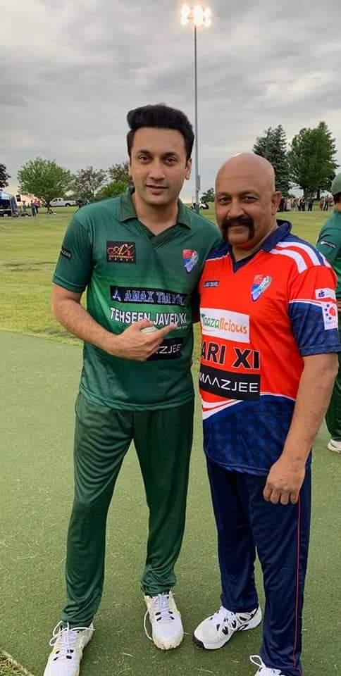 Pakistani Celebrities Playing Cricket 2