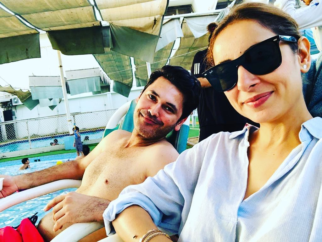 New Pictures of Actress Sarwat Gilani with Husband from London