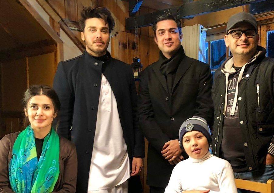Sajal Aly & Hamza Ali Abbasi Spotted on Set of Serial Alif in Turkey