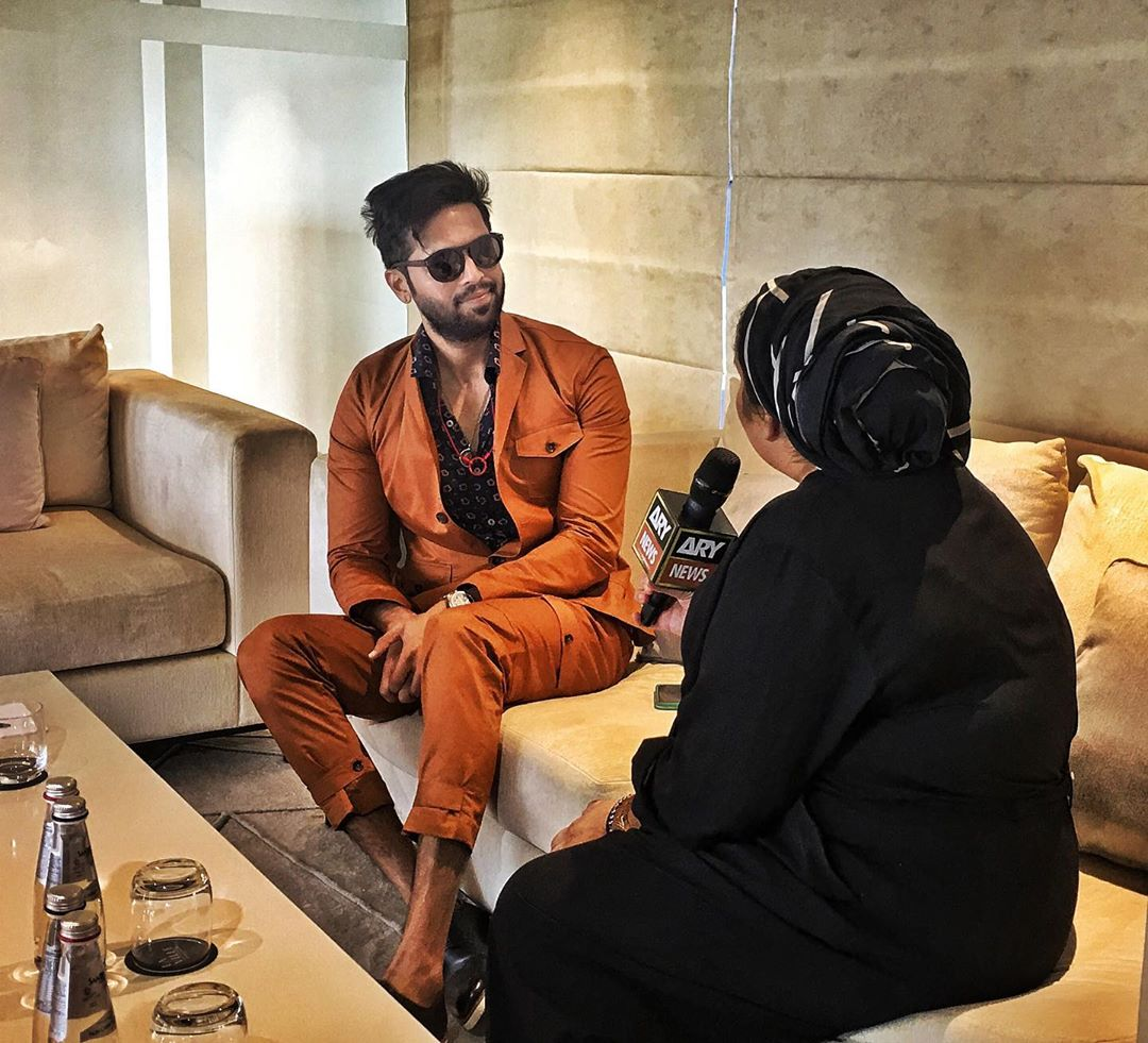 Unique Looks of Fahad Mustafa with Family in Dubai