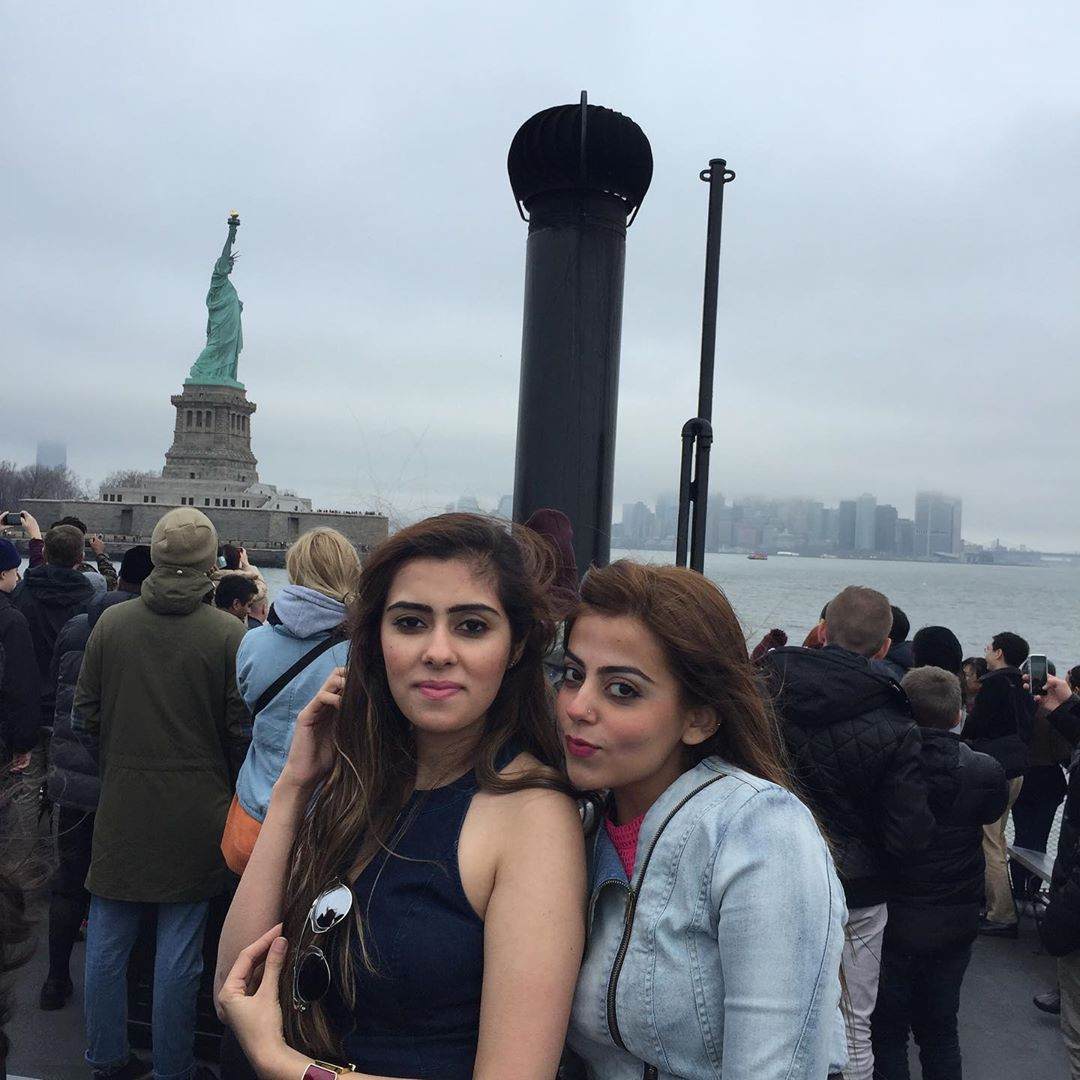 Actress Yashma Gill with her Best Friend Aashna Narang