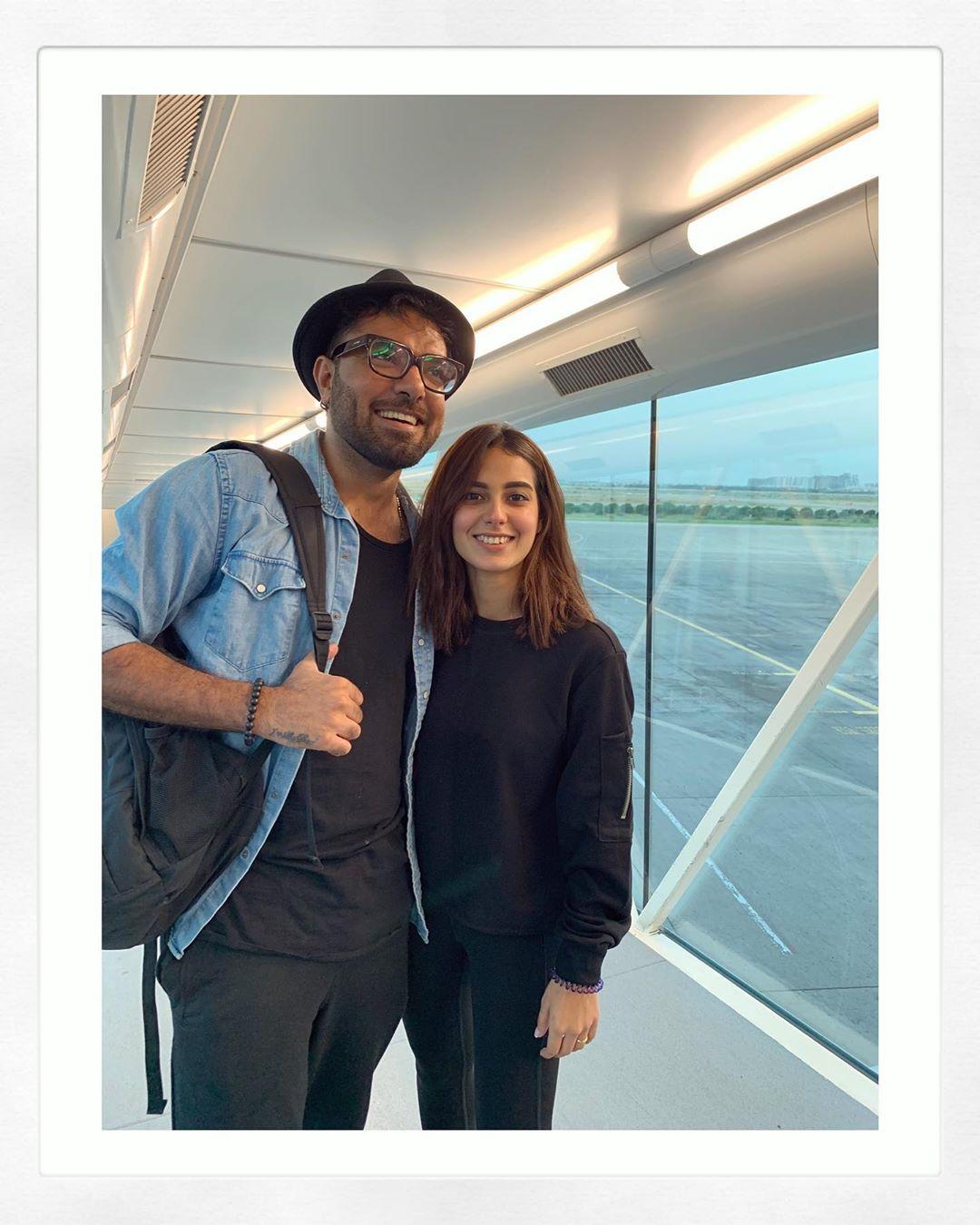 Awesome Clicks of Iqra Aziz and Yasir Hussain at Disney Land USA