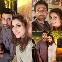 Beautiful Clicks of Sami Khan with His Wife at a Family Wedding