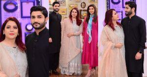 Rabia Anum with her Husband in Nida Yasir Morning Show