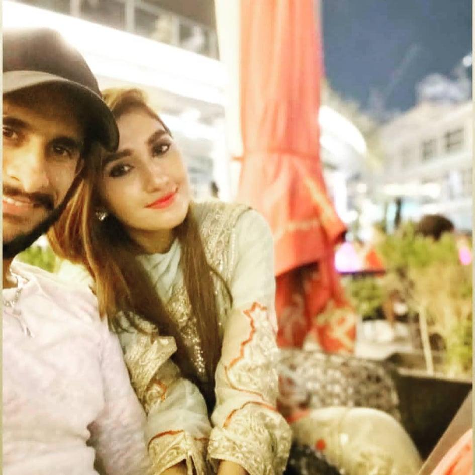 Cricketer Hassan Ali With Wife Samiya in Dubai