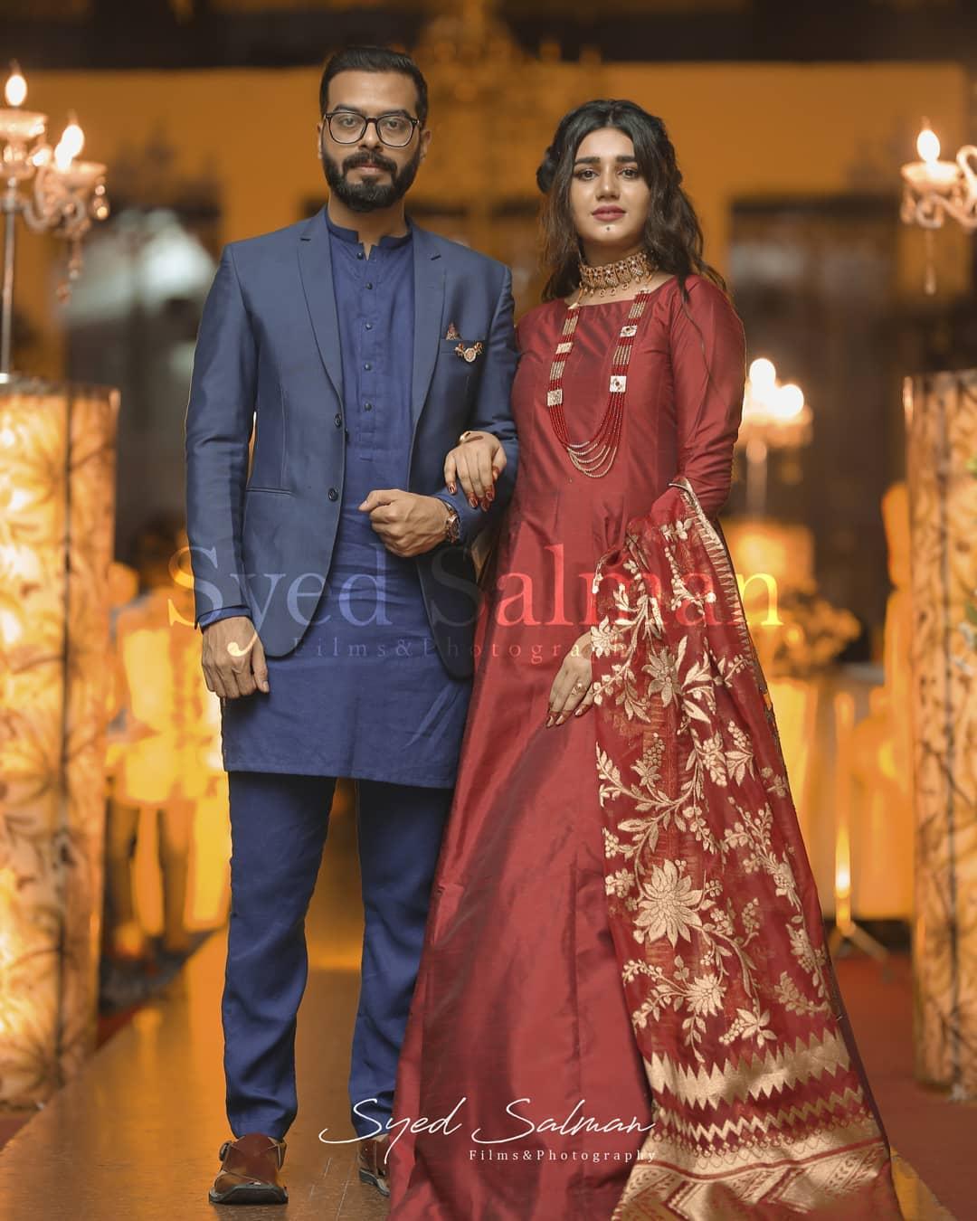 Actress Anum Fayaz with her Husband at Recent Family Wedding