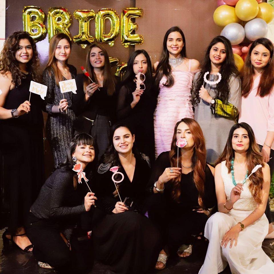 Actress and Fashion Model Sanah Sarfaraz Bridal Shower Clicks