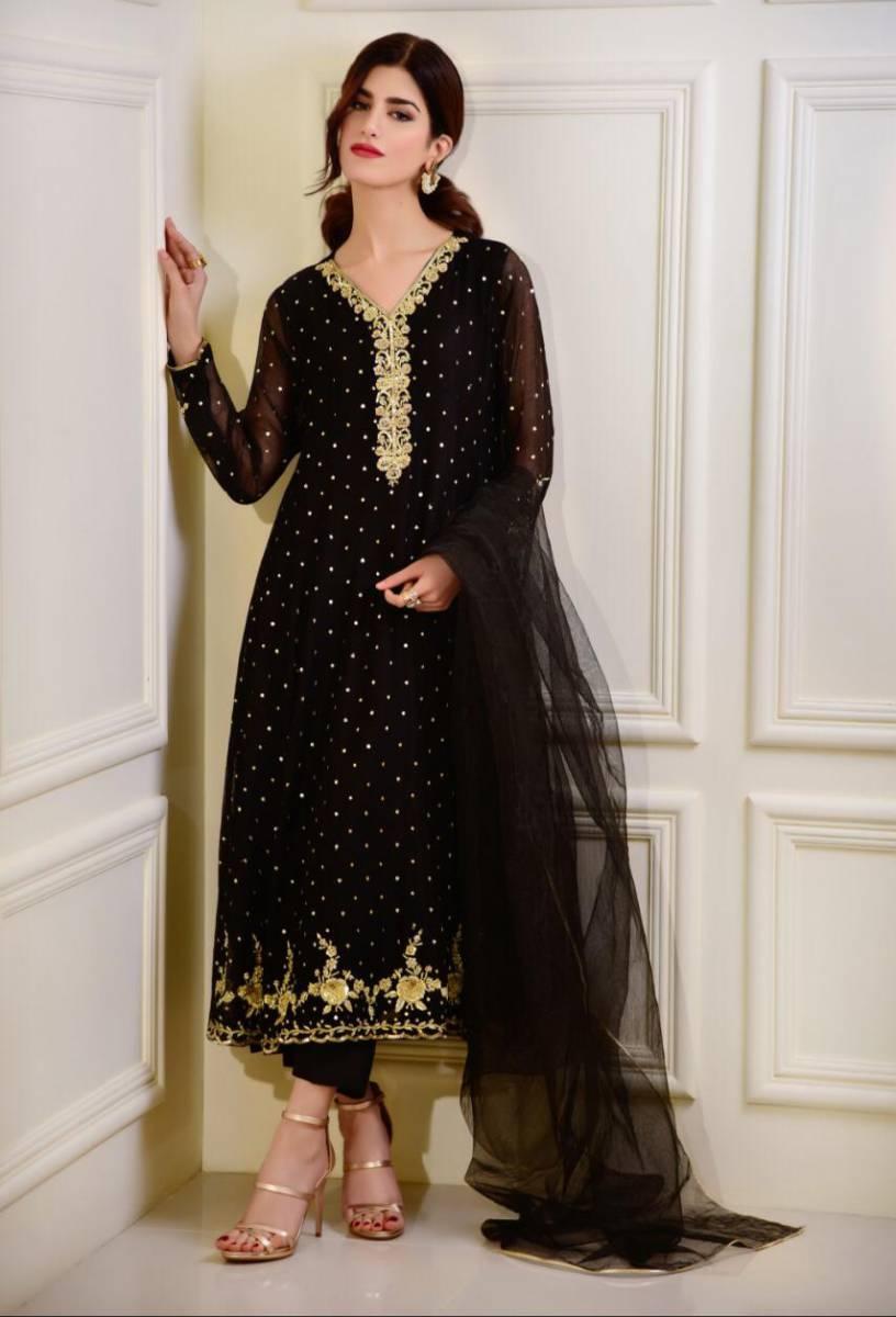 Black Wedding Dress by Agha Noor Sale 2020