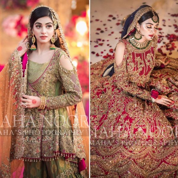 Anmol Baloch Awesome Clicks from Recent Bridal Shoot