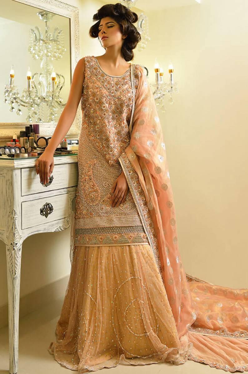 Peach Bridal Wear by Maha Osman