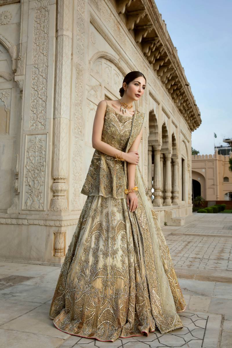 Erum Khan Bridal Collection 2020 Peplum Lehenga