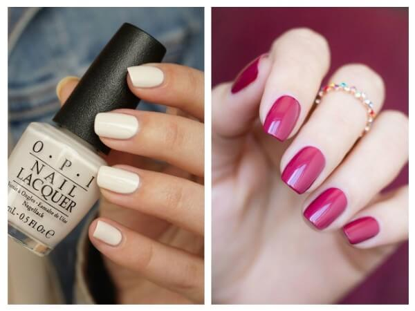Monochrome Coating Trendy Nail Art Designs for Summer Vacations