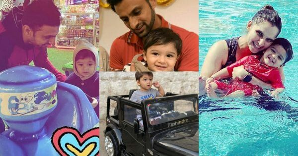 Sania and Shoaib Latest Clicks with Son Izhaan