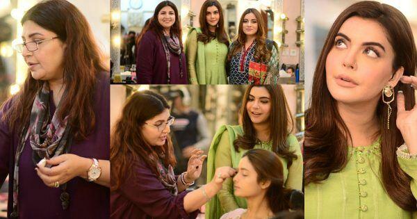 Nida Yasir Spotted At Shagufta Ejaz Salon