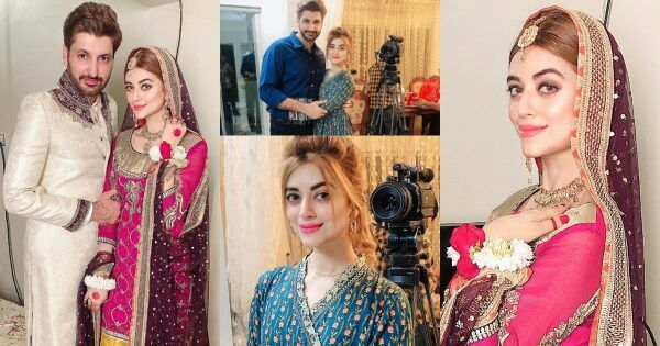 Photoshoot of Syed Jibran with his Wife from Set of Upcoming Drama