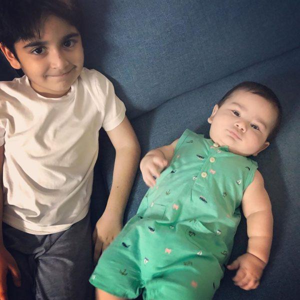 Junaid Khan Son is 6th month old   Beautiful half Birthday Clicks