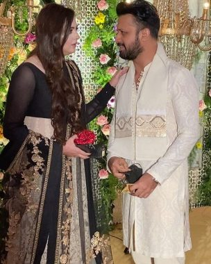 Atif Aslam spotted with His Wife At A Recent Wedding in Lahore