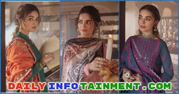Minal Khan Flaunts Elegance in Cross Stitch collection Azal 21