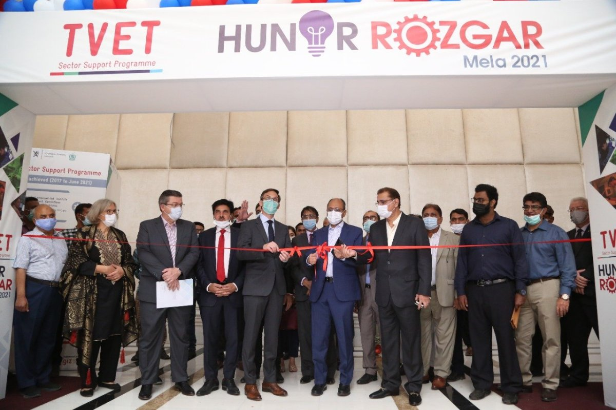 TVET Sector Support Programme organized a Hunar and Rozgar Mela 2021 in Sindh
