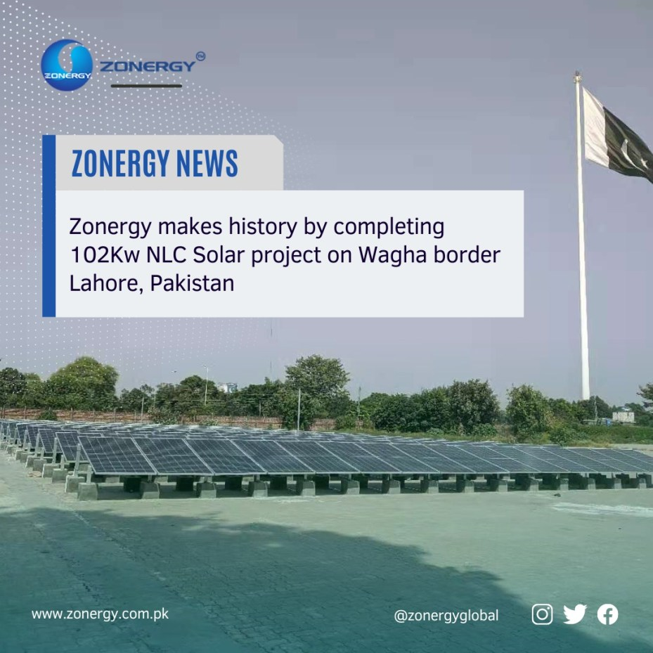 Zonergy successfully completed installation of NLC Solar project on Wagha Border