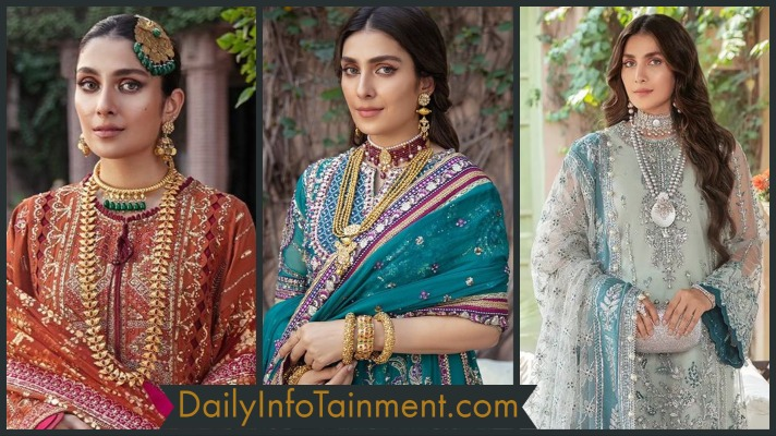 Ayeza Khan Ethereal Looks donned in Afrozeh Hayat bridal collection