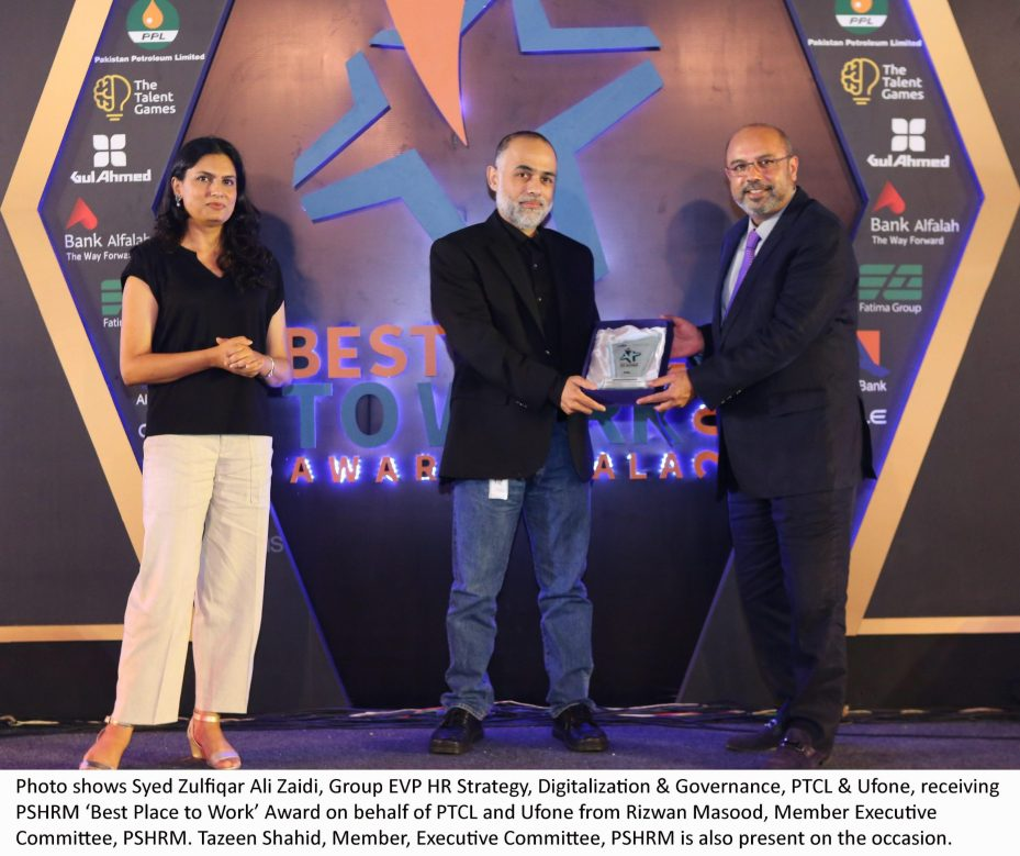 PTCL, Ufone recognized as Best Place to Work