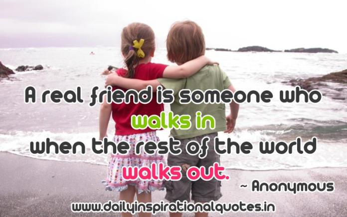A real friend is someone who.. ( Relationship Quotes )