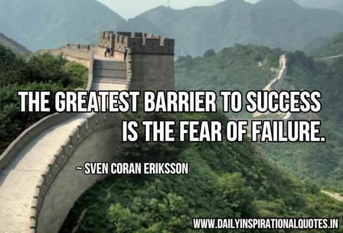 The greatest barrier to success is.. ( Success Quotes )