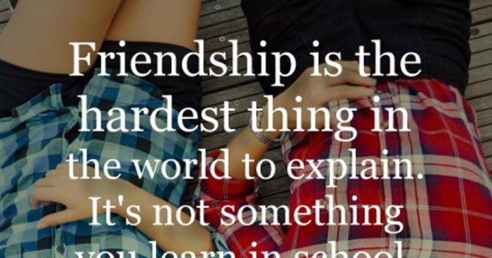 Friendship is the hardest thing in the world to explain. It's not something you learn in school. But if you haven't learned the meaning of friendship, you really haven't learned anything. – Muhammad Ali