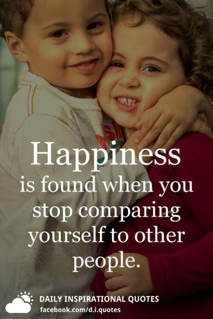 Happiness is found when you stop comparing yourself to other people. - Unknown