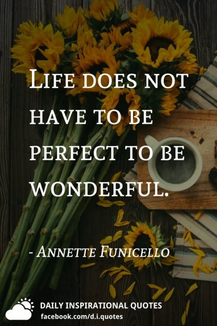 Life does not have to be perfect to be wonderful. - Annette Funicello