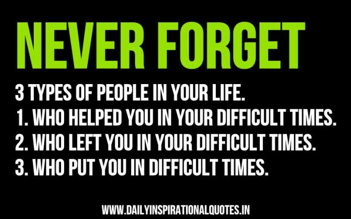 Quotes For Difficult Times In Life Adorable Never Forget 3 Types Of People In Your Life1Who…  Wisdom