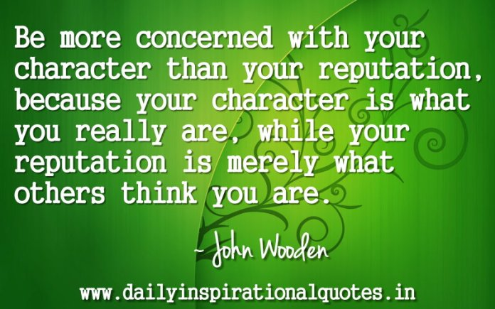 Be More Concerned With Your Character Than Your Personality