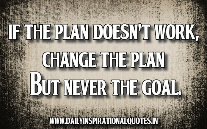 Daily Motivational Quotes For Work Awesome If The Plan Doesn't Work Change The Plan But Never The…  Success