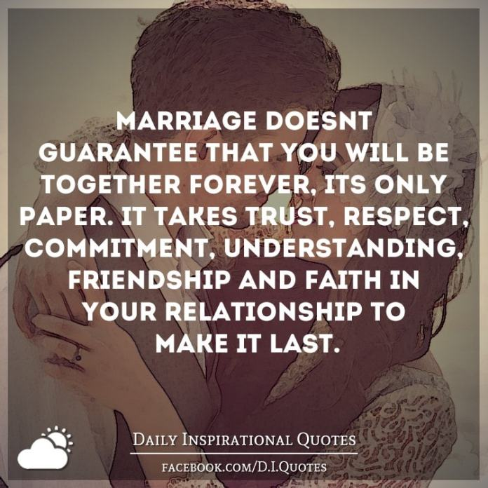 respect and trust in marriage