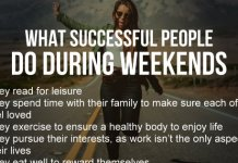 What successful people do during weekends