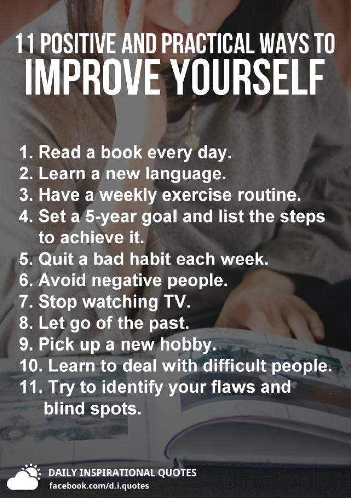 11 Positive And Practical Ways To Improve Yourself