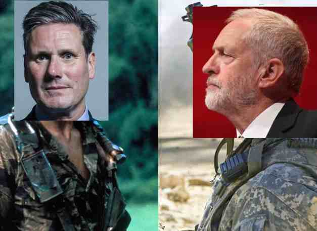 corbyn and starmer at war
