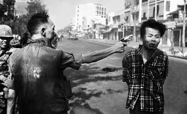 Again an one during the Vietnam war, shows the atrocity of war and its brutal behavior which is carried over by Humanity.