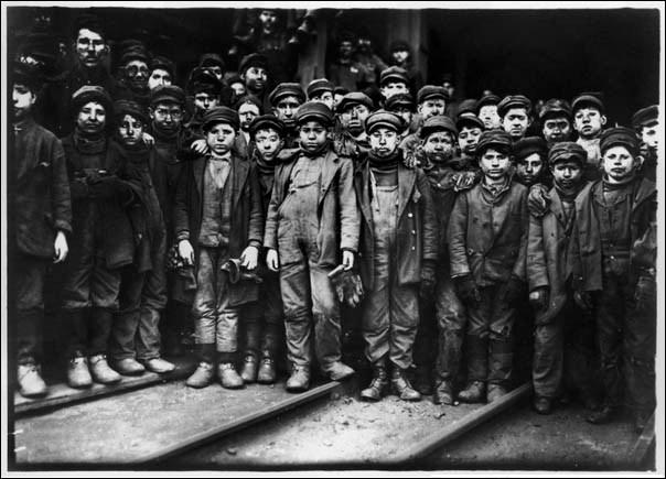 Taken by Lewis W. Hine an American Photographer. It shows the condition of child labor and the hardlives of people in coal mine Located in the south Pittson Pennsylvania.