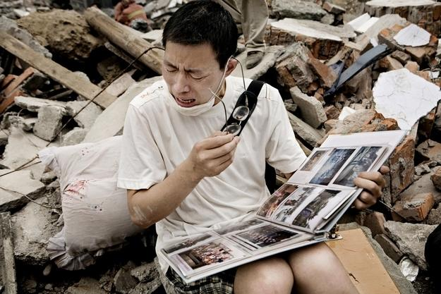 When a survivor of an earthquake found a treasured photo album intact in Sichuan, China