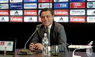 Vincenzo Montella in conferenza stampa. Fonte foto: A.C. Milan
