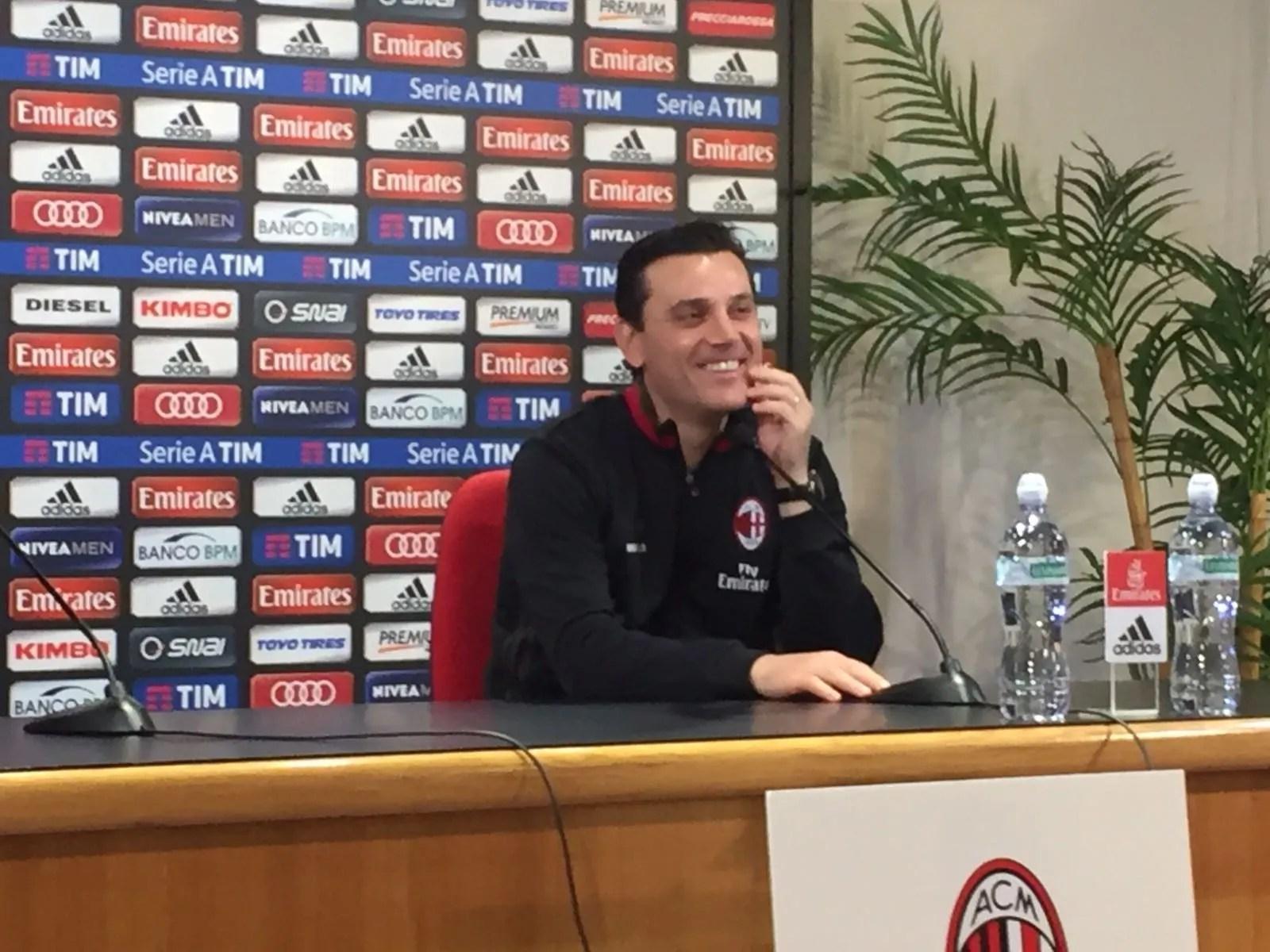 Pescara-Milan 1-1, Vincenzo Montella: