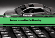 Factors to Consider for Car Financing