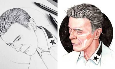 David Bowie Blackstar - Credit: Helen Green Art