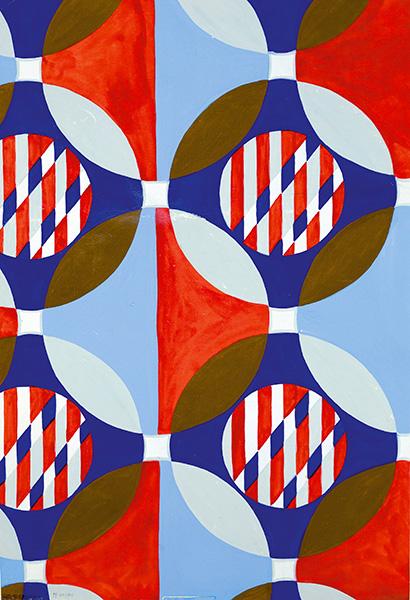 Bruno Munari Progetto grafico per tessuto, 1950 tempera su cartoncino Bologna, Fondazione Massimo e Sonia Cirulli Crediti Fotografici: Archivio Massimo e Sonia Cirulli