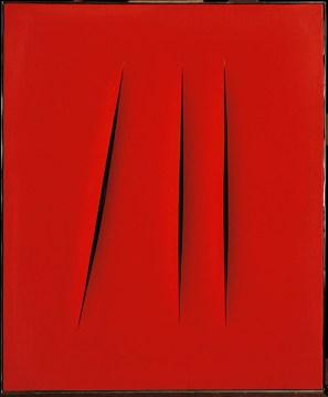 Lucio Fontana Concetto spaziale. Attese, 1968 Idropittura su tela Collezione privata