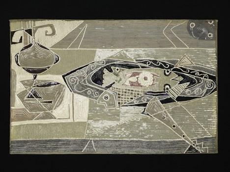 Pietro Zuffi in collaborazione con Germana Marucelli, Senza Titolo, 1950, quadro in paillettes su chiffon. Milano, Archivio Germana Marucelli. Foto Arrigo Coppitz