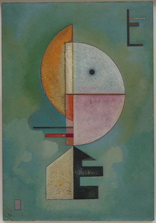 Verso l'alto (Empor) Vasily Kandinsky (Mosca 1866-Neuilly-sur-Seine 1944), ottobre 1929, olio su cartone, cm 70 x 49. Venezia, Collezione Peggy Guggenheim, 76.2553. Foto di David Heald